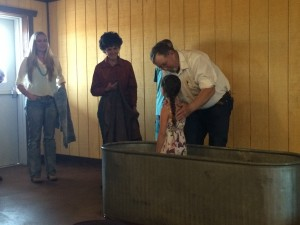 First Baptism in New Building